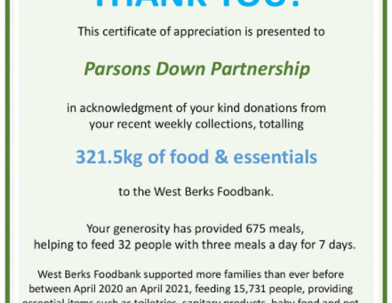 Food Bank Collection Winners