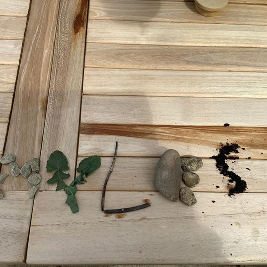 Daily Challenge - write your name using natural materials