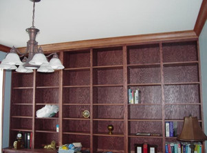 Built in library book shelves