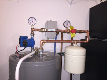 hybrid water heater with instant hot recirc system