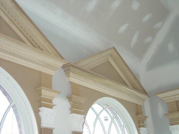 Custom pediment heads