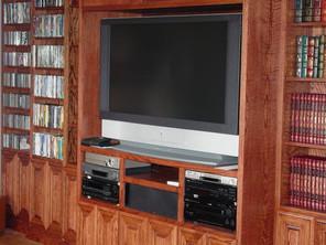 Full wall built in entertainment center