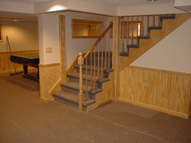 Finishe basement and Stairs