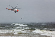 A helicopter rescue mission in difficult