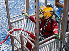 Offshore oil and gas diver in his diving