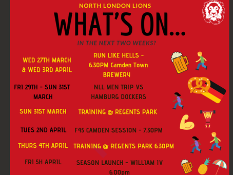 Upcoming Lions Events