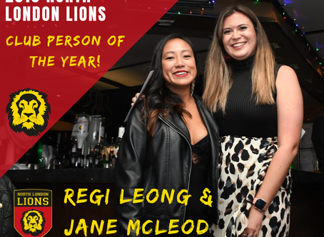 Club People of the Year - Jane McLeod and Regi Leong