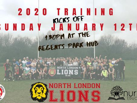 2020 Training Kicks Off January 12
