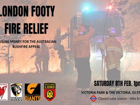 Fire Relief Fundraiser Update