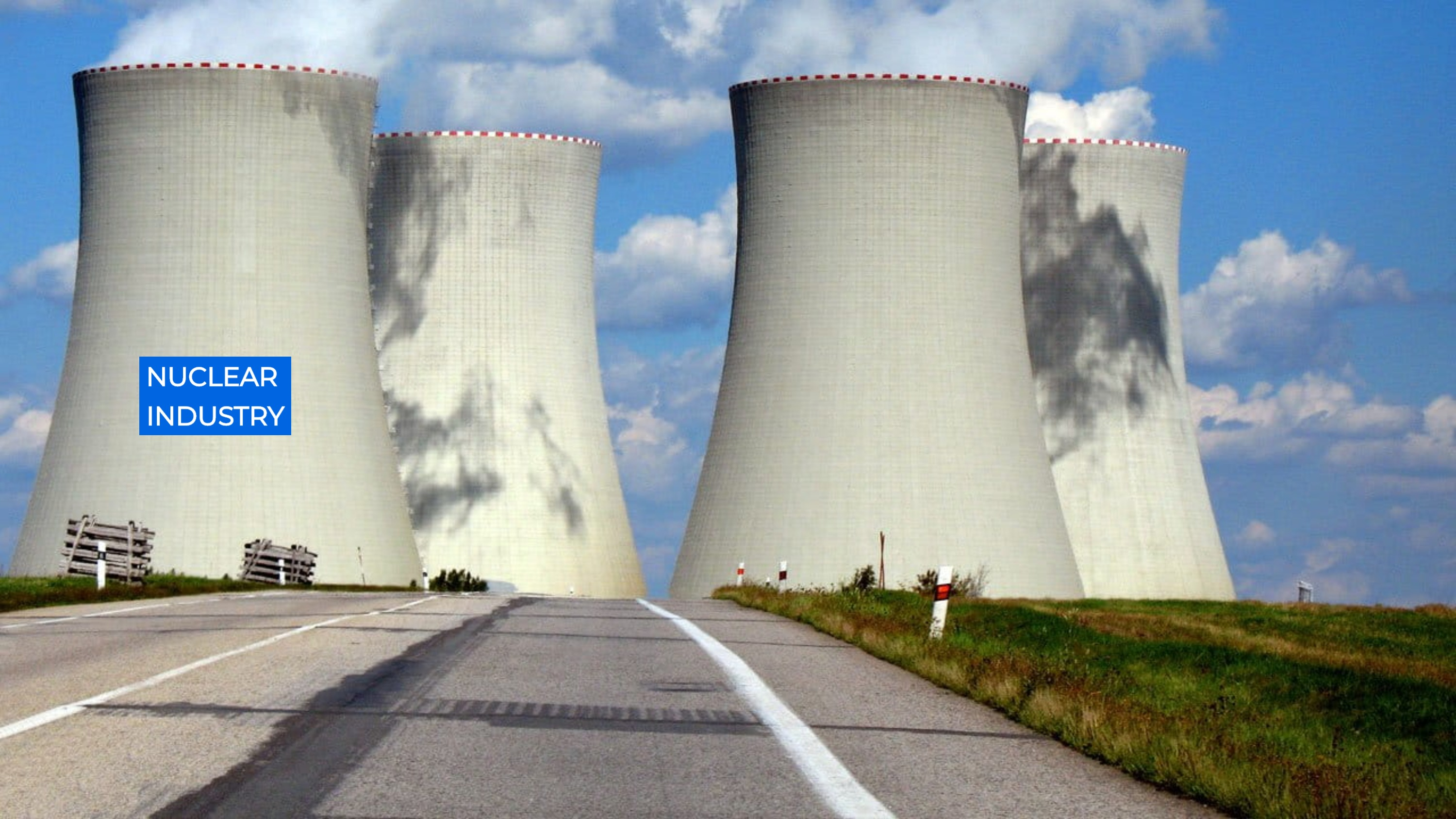 Nuclear Industry - Nuclear Energy - Nuclear Power Sector - Cooling Towers in process - Industrial Va
