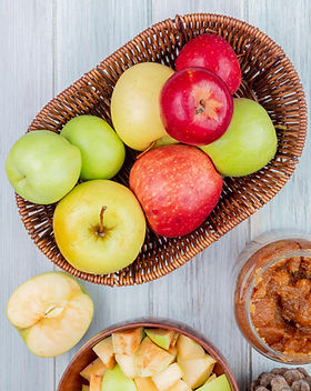 top-view-basket-apples-with-jar-apple-ja