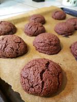Choco Almond Brownie Cookies