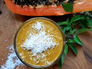 Papaya Thai Basil Smoothie