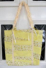 Lemon Patchwork Tote Bag