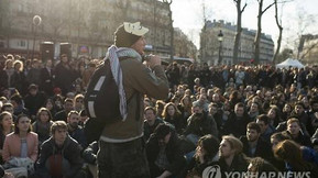Protest of the young French against new labor law