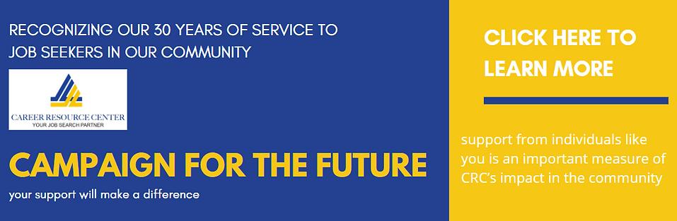 Campaign for the future graphic banner.P