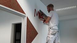 Wandgestalltung