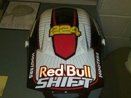 New lid stickered up reflective red bull
