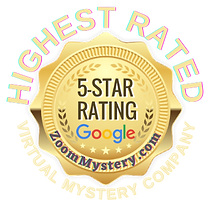 Zoom Mystery has the highest 5 star Google rating for corporate events