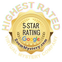 Zoom Mystery has the highest 5 star Google rating for online party fun