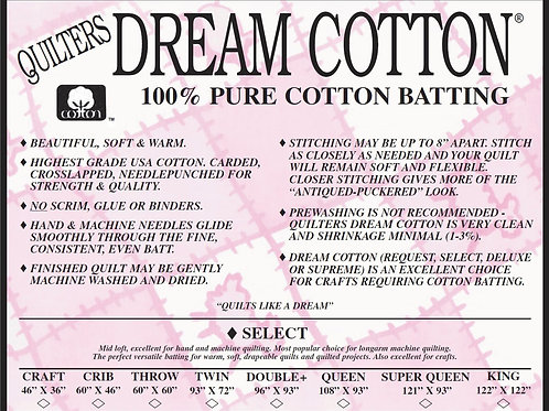 Quilters Dream Cotton - Select Natural - CRIB