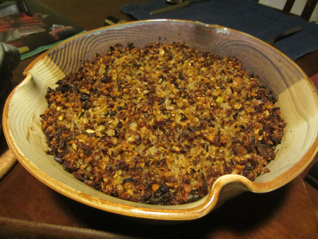 Brown Rice & Quinoa Stuffing (Gluten-free, Dairy-Free, Vegan)