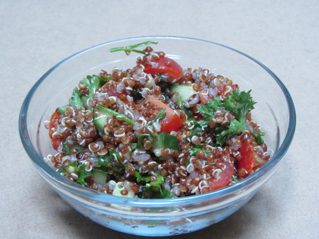 Rustic Quinoa Tabouli (vegan, gluten free & dairy free)