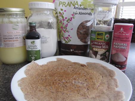 Almond Flour Crepes/Naan Bread (gluten-free, dairy-free, vegan)