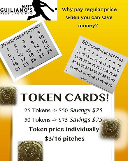 Tokens, token cards and more token cards