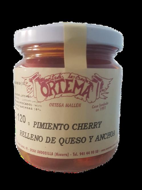 Pimiento cherry relleno de queso y anchoa