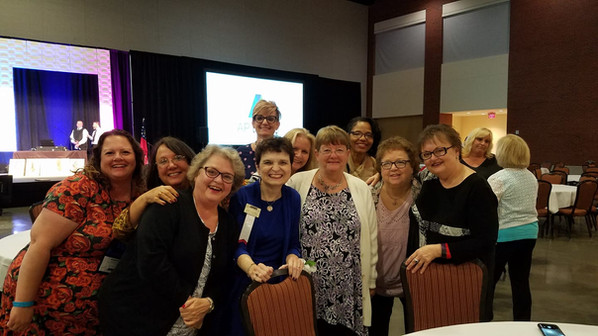 Members from District V Chapters at the National Women's Leadership Conference in 2018