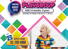 ABC English and Mandarin Playgroup apply now