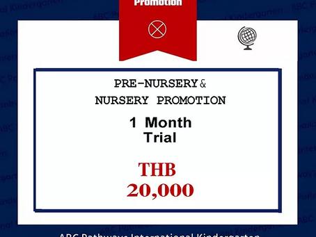 One Month Trial - Pre-Nursery & Nursery