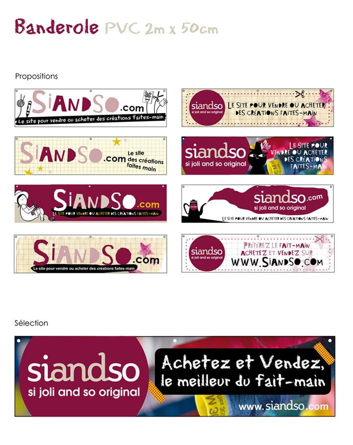 """Banderole pour """"Siandso"""""""