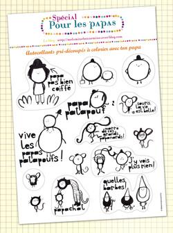 """Stickers """"Spécial papas"""""""