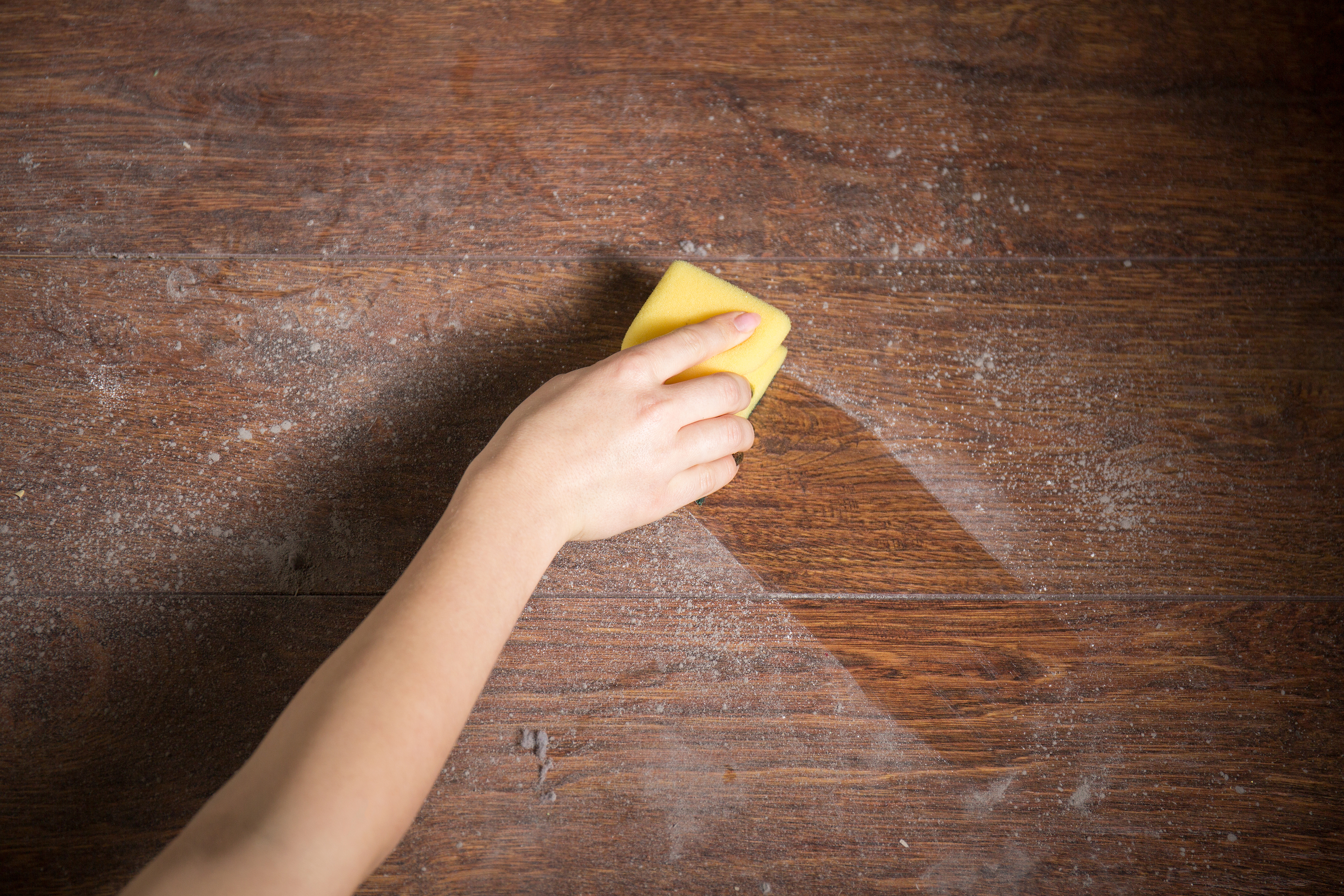Cleaning Dust From The Wood