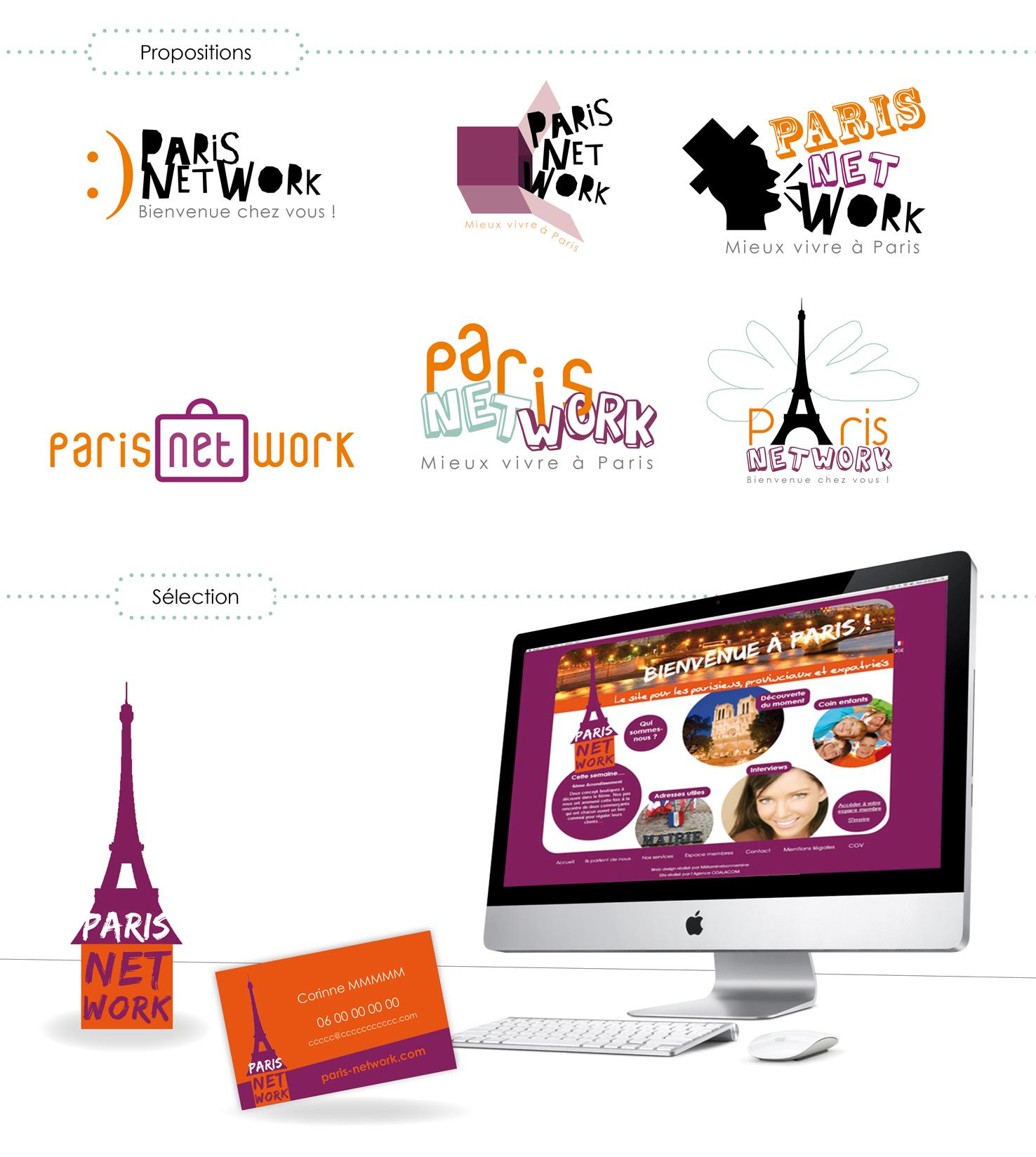 """Identité visuelle pour """"ParisNetwork"""
