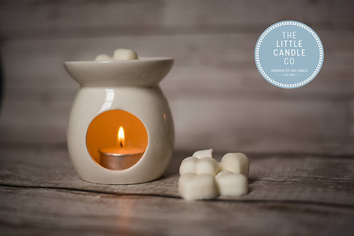 Wax Melt Burner & 10 Heart Melts Bundle