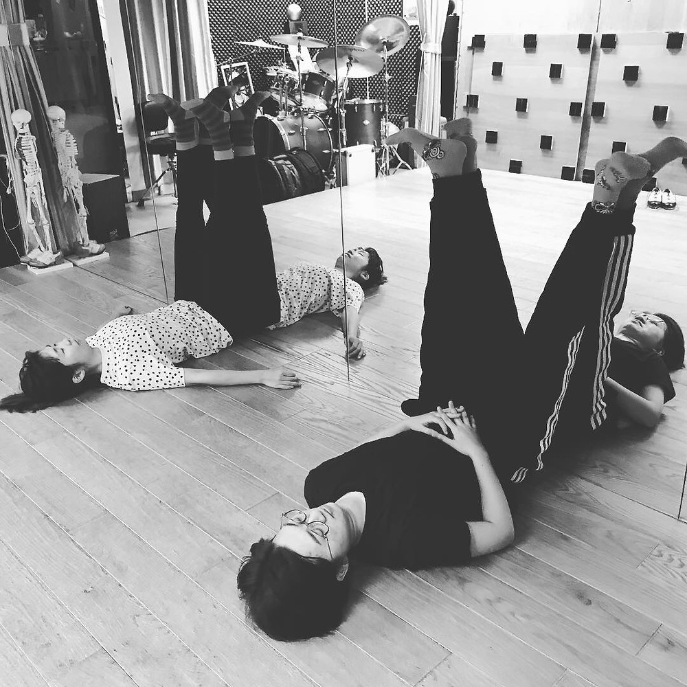 legs up the wall pose after in tense tap class