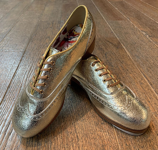 Golden Tap Shoes