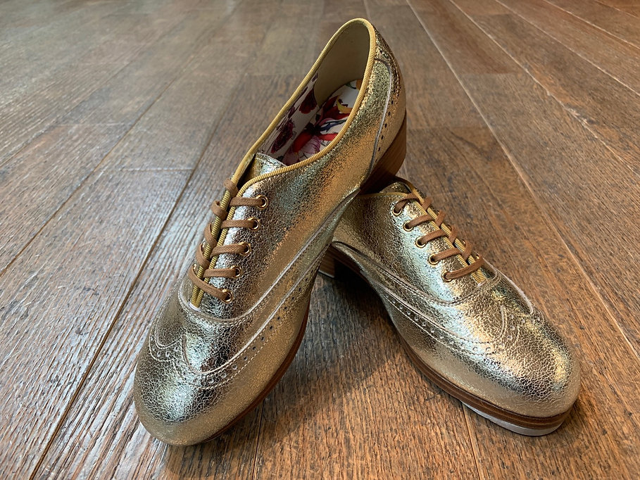 Golden Blink Tap Shoes By Chanteloup