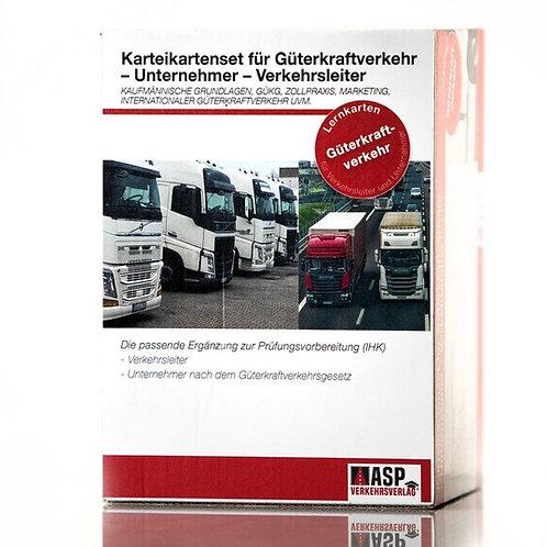 Karteikarten Güterkraftverkehr Unternehmer- Verkehrsleiter