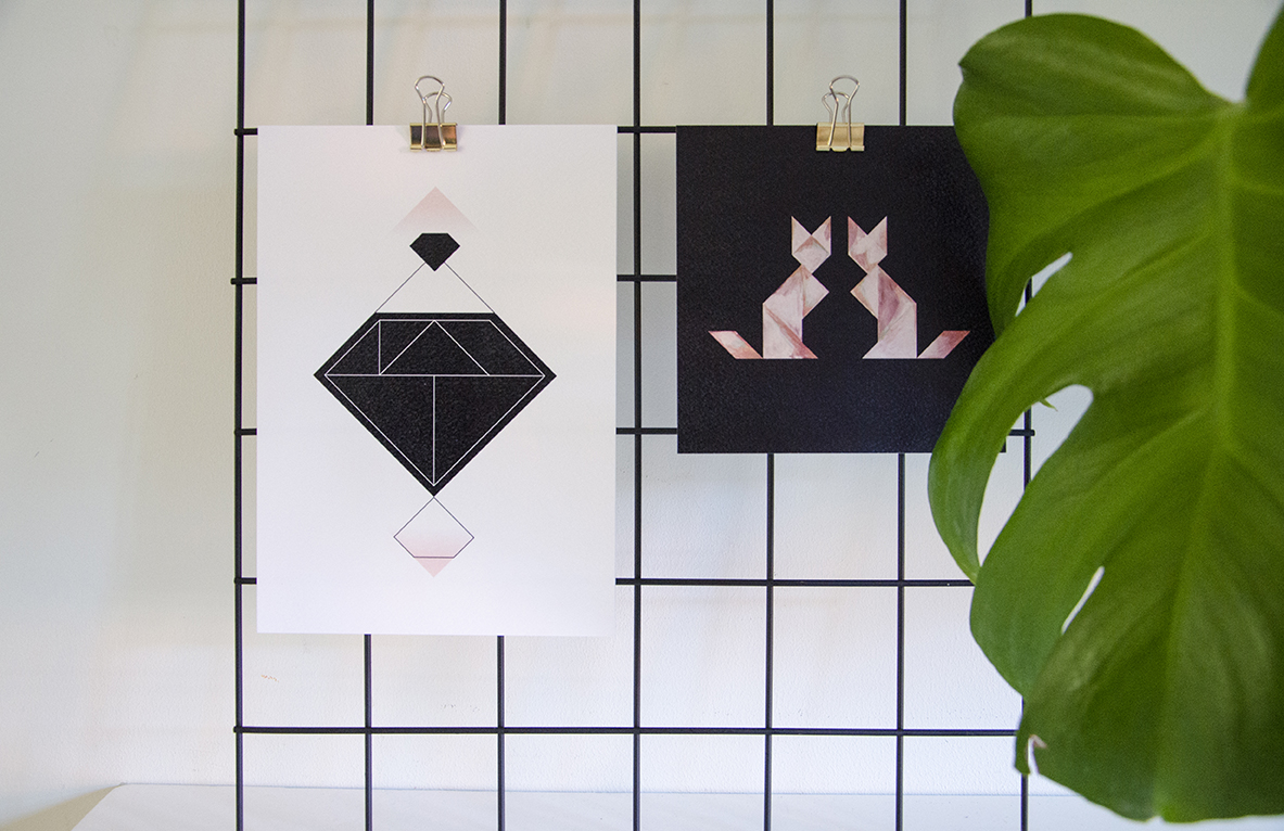 Tangram-sfeerfoto-Diamond black-A5-Cats Mirror-carre-small