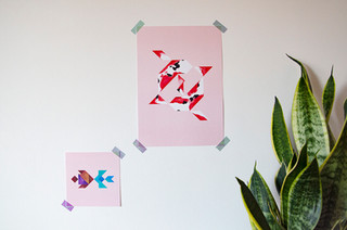 Tangram-sfeerfoto-Koi Pink-A4-Fish in lo