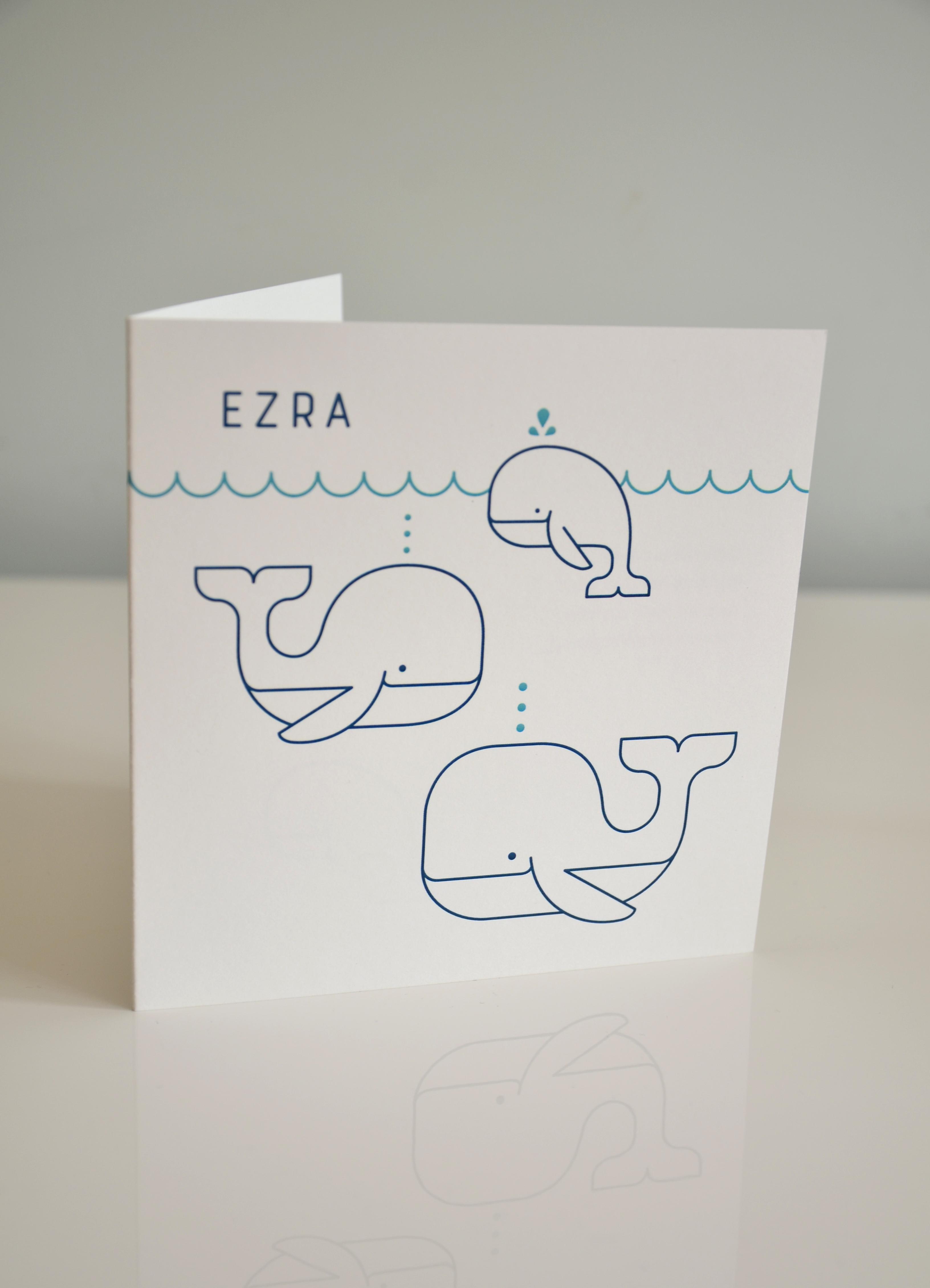 foto van kaartje - Ezra - buitenkant