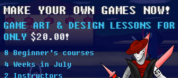 Dennel Cake is offering intro Game Design courses this summer!