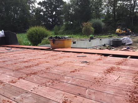 houten terras, padouk, padoek, onzichtbaar
