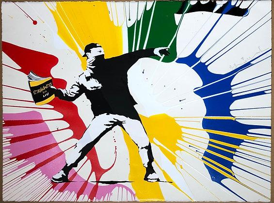 "Mister Brainwash ""Banksy thrower"""
