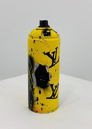 VL. «Spray skull Louis Vuitton jaune»