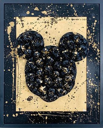 VL. «Mickey skull noir et or»